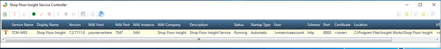 Shop Floor Insight Service Controller