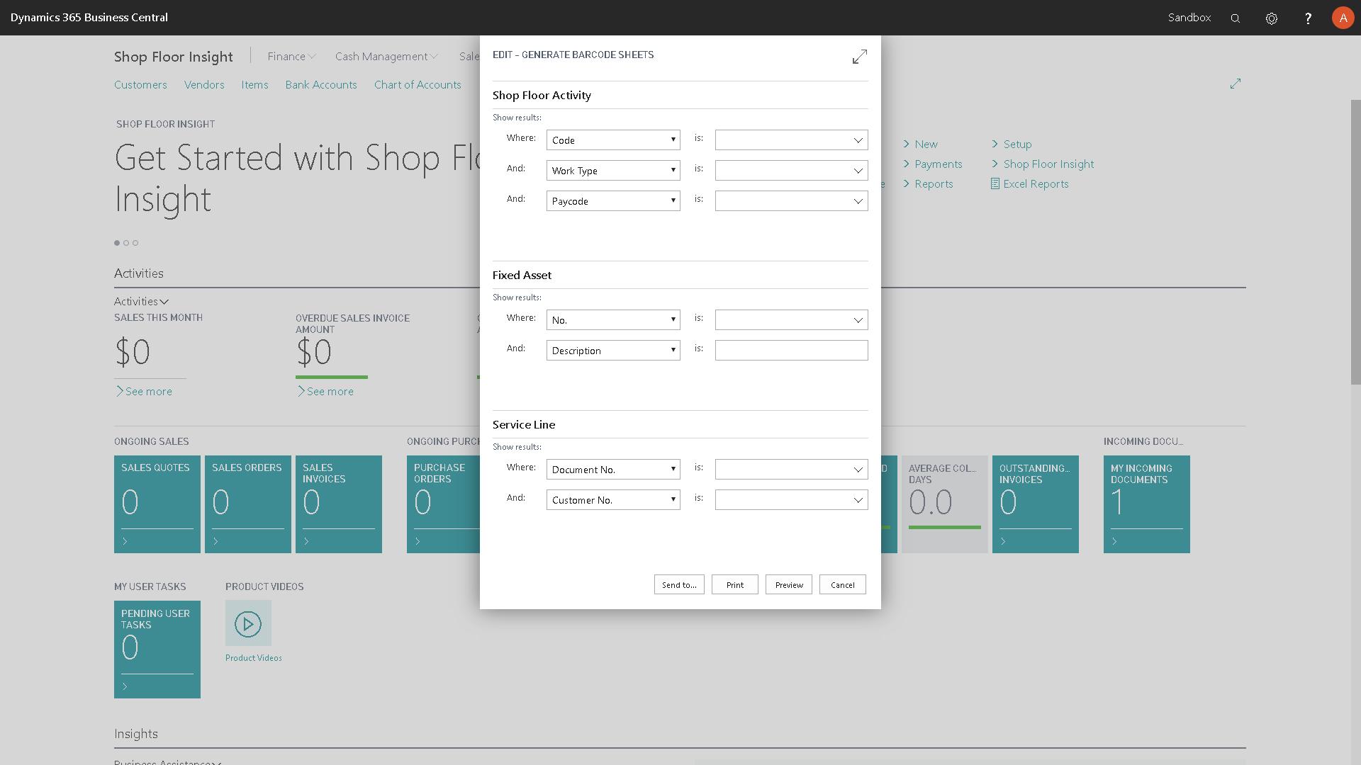 Generate Barcode Sheets