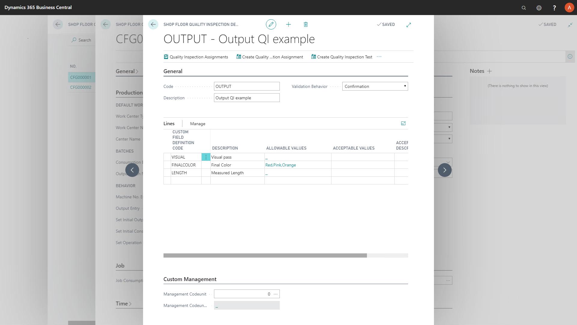 Output QI