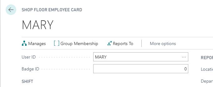 Employee Card