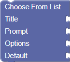 Choose From List