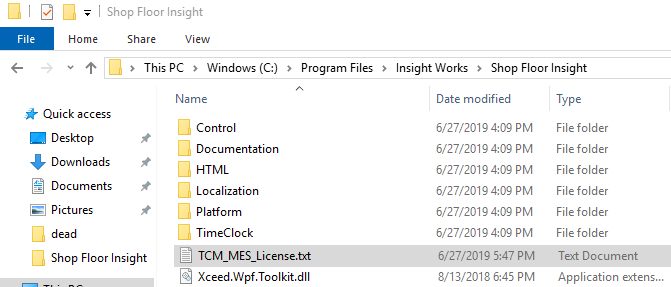 Replace TCM_MES_License