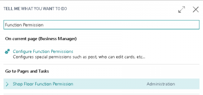 Function Permissions