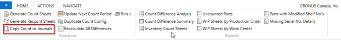 Copy Count to Journals