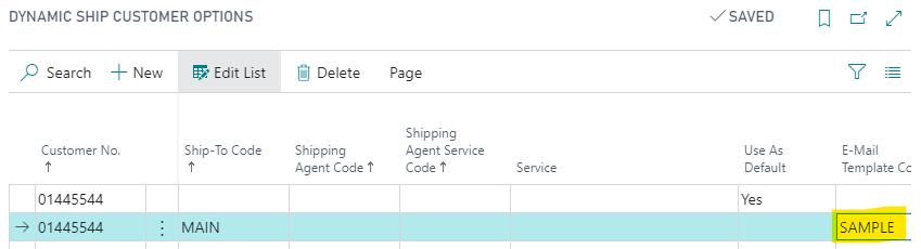 Dynamic Ship Customer Options