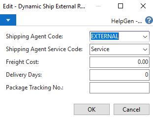 Edit Dynamic Ship