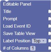 Editable Panel