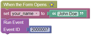 Form Opens