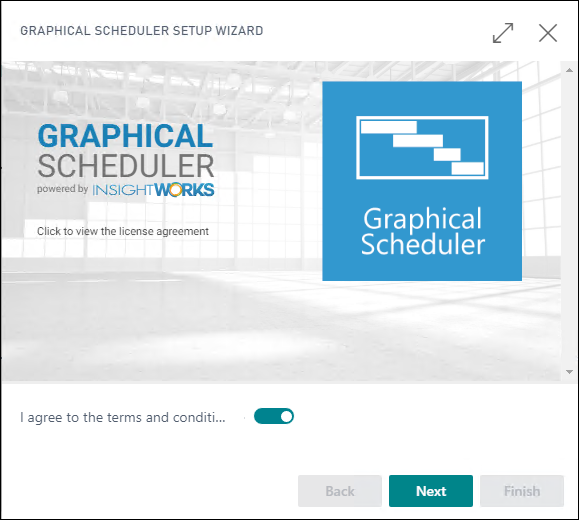 Graphical Scheduler Setup Wizard