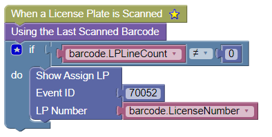 License Plate Scanned