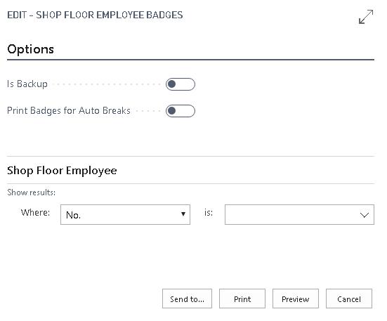 Shop Floor Employee Badges