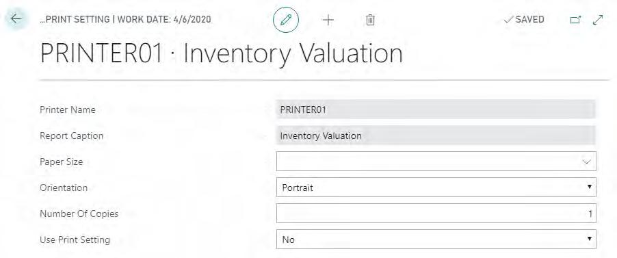 Printer01 Inventory Valuation