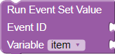 Run Event Set Value
