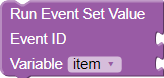 Run Event Set Value