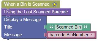 Scanned Bin