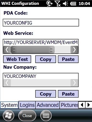 WHI Configuration
