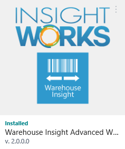 Warehouse Insight Installed