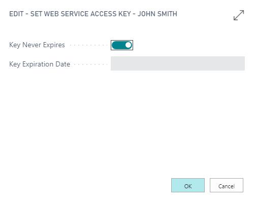 Web Service Access Key