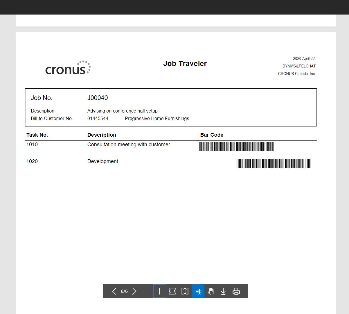 Print Job Traveler