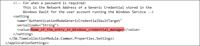 Credential Type Configuration